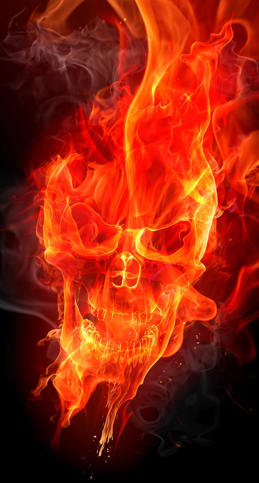 smoke, flame