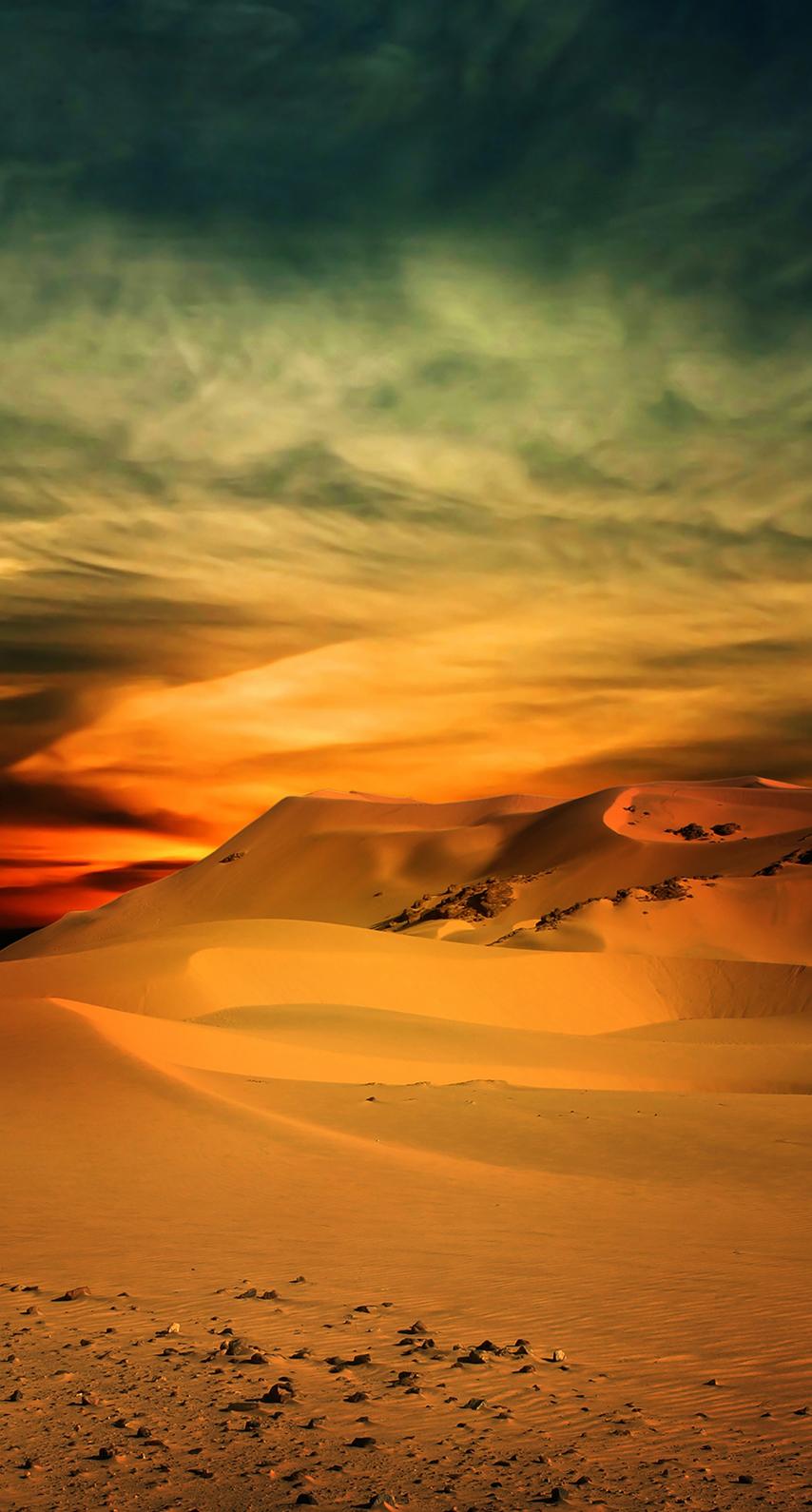 desert, sunset, sand, evening, sun, hot, no person, dawn, fair weather
