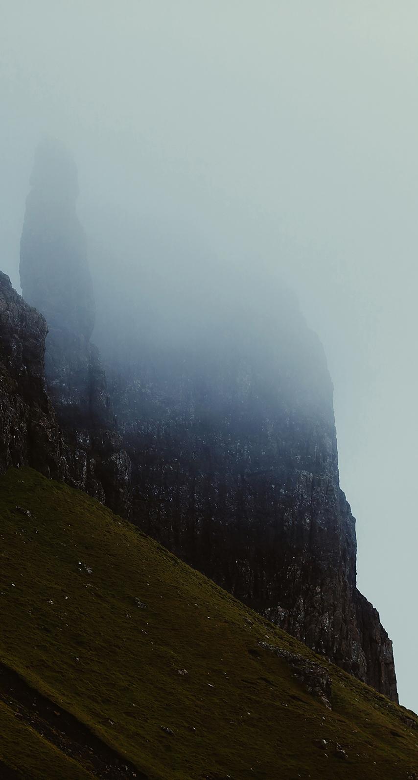 mountain, morning