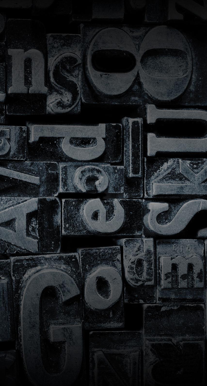 steel, text
