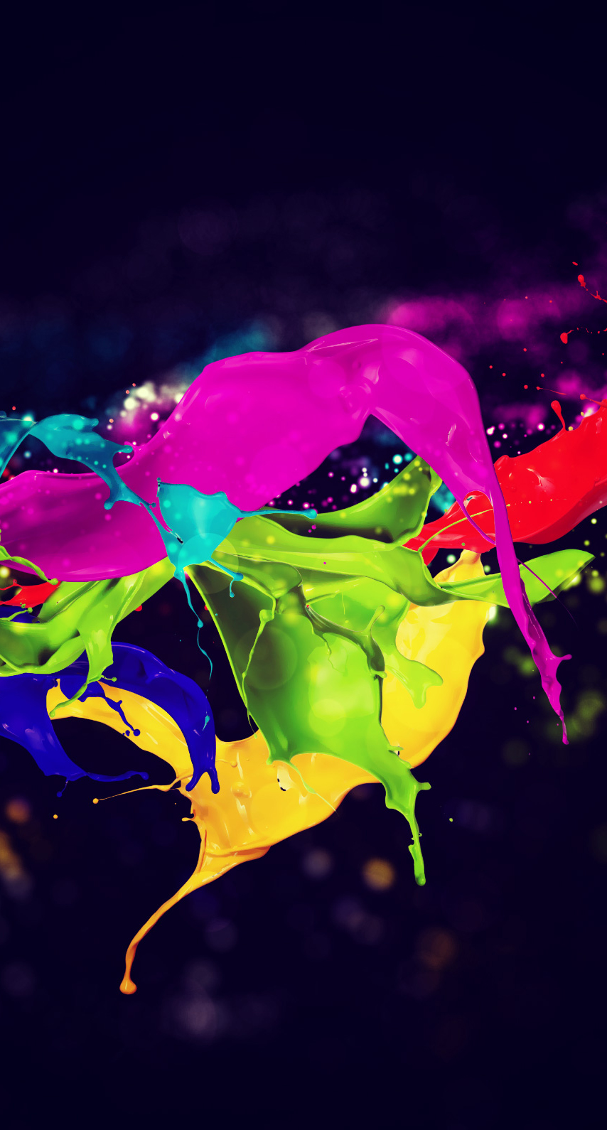 rainbow, fun, leaf, drop, splash, abstract, light, bright, celebration