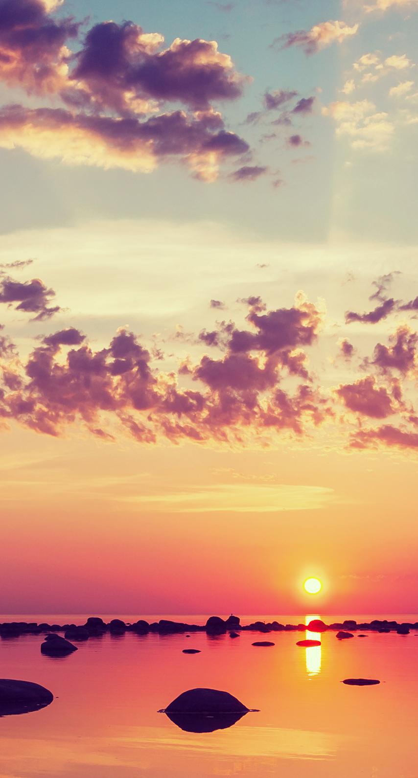 fair weather, dusk