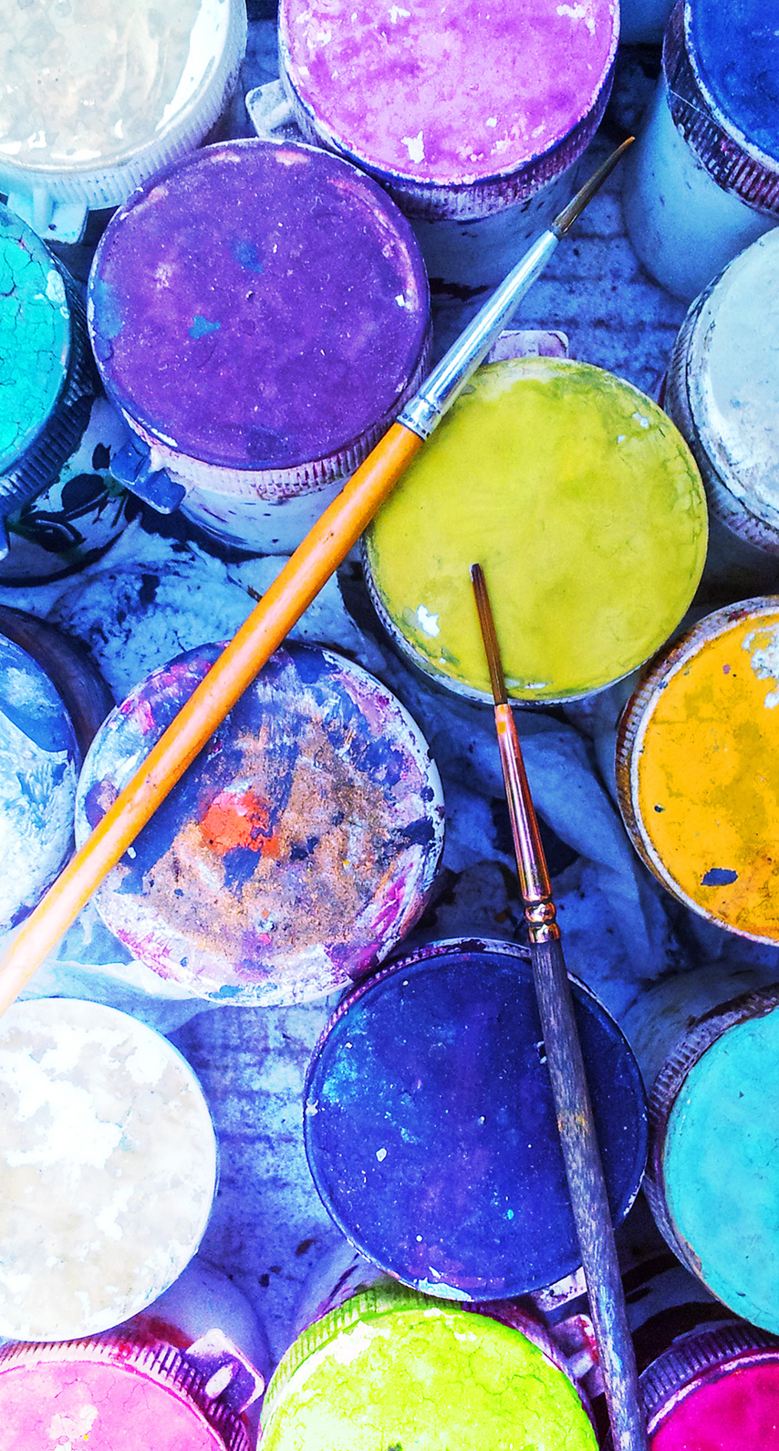 color, creativity, coloring, palette, craft, brush, container, dye