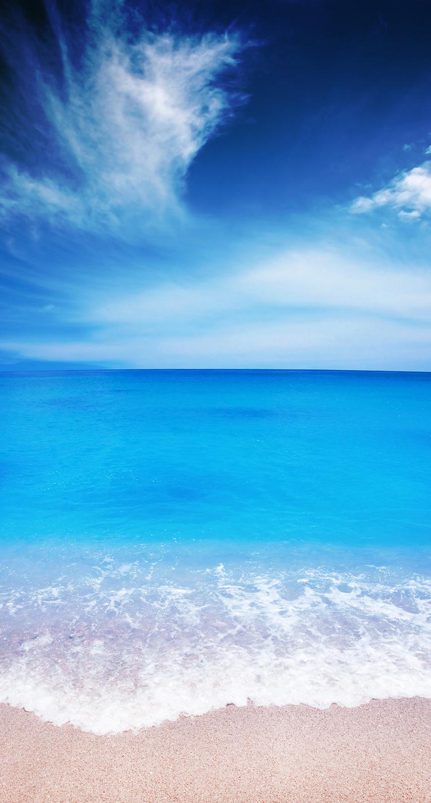 sky, beach