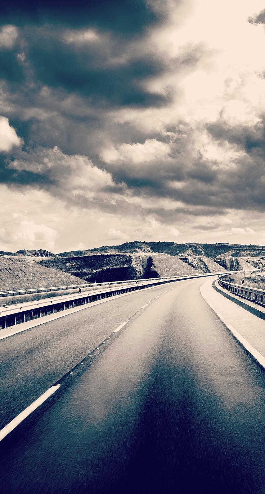 sky, road