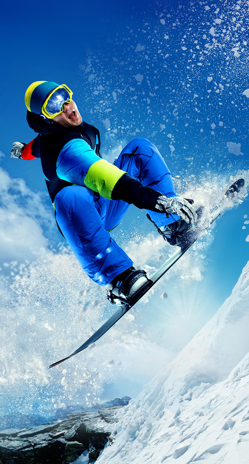 fast, snowboard, exhilaration, skier, adventure, agility, goggles, freestyle