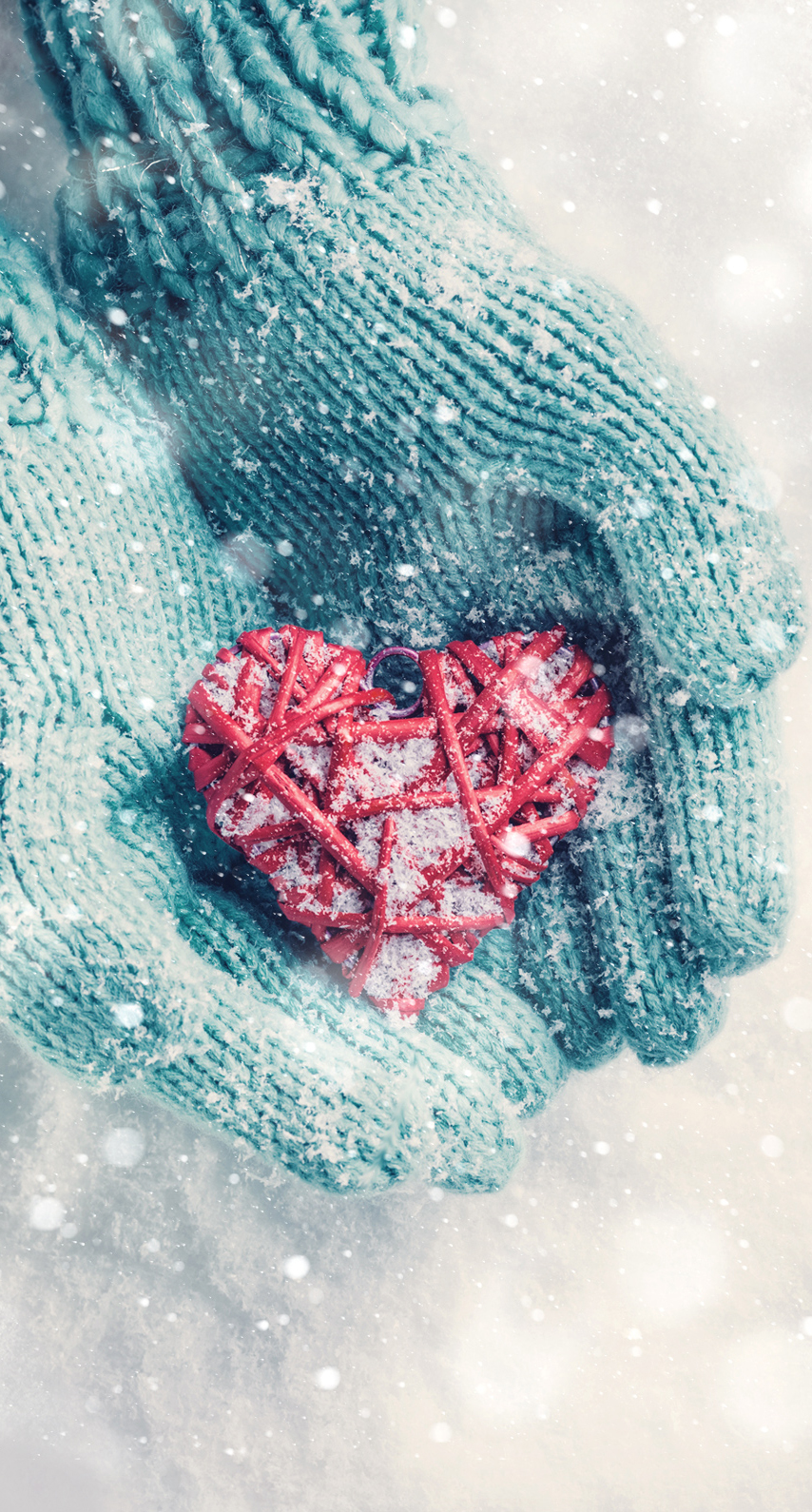 winter, fun, heart, snow