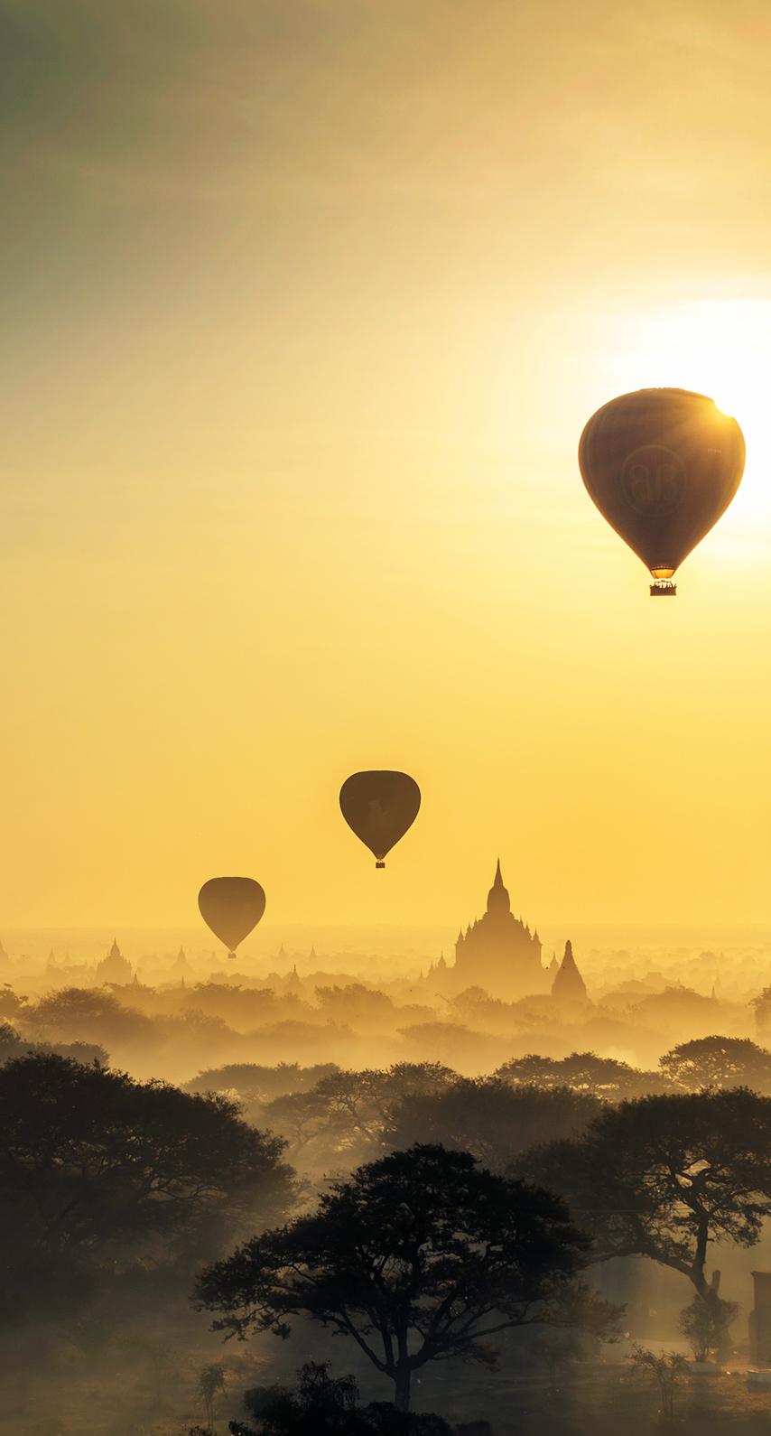 sunrise, aircraft