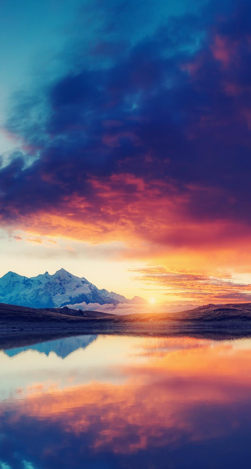dawn, fair weather, dusk, outdoors, reflection, idyllic, composure