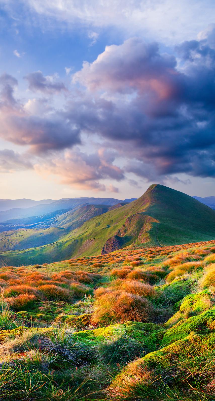 cloud, outdoors, scenic, volcano, hill, mountain peak