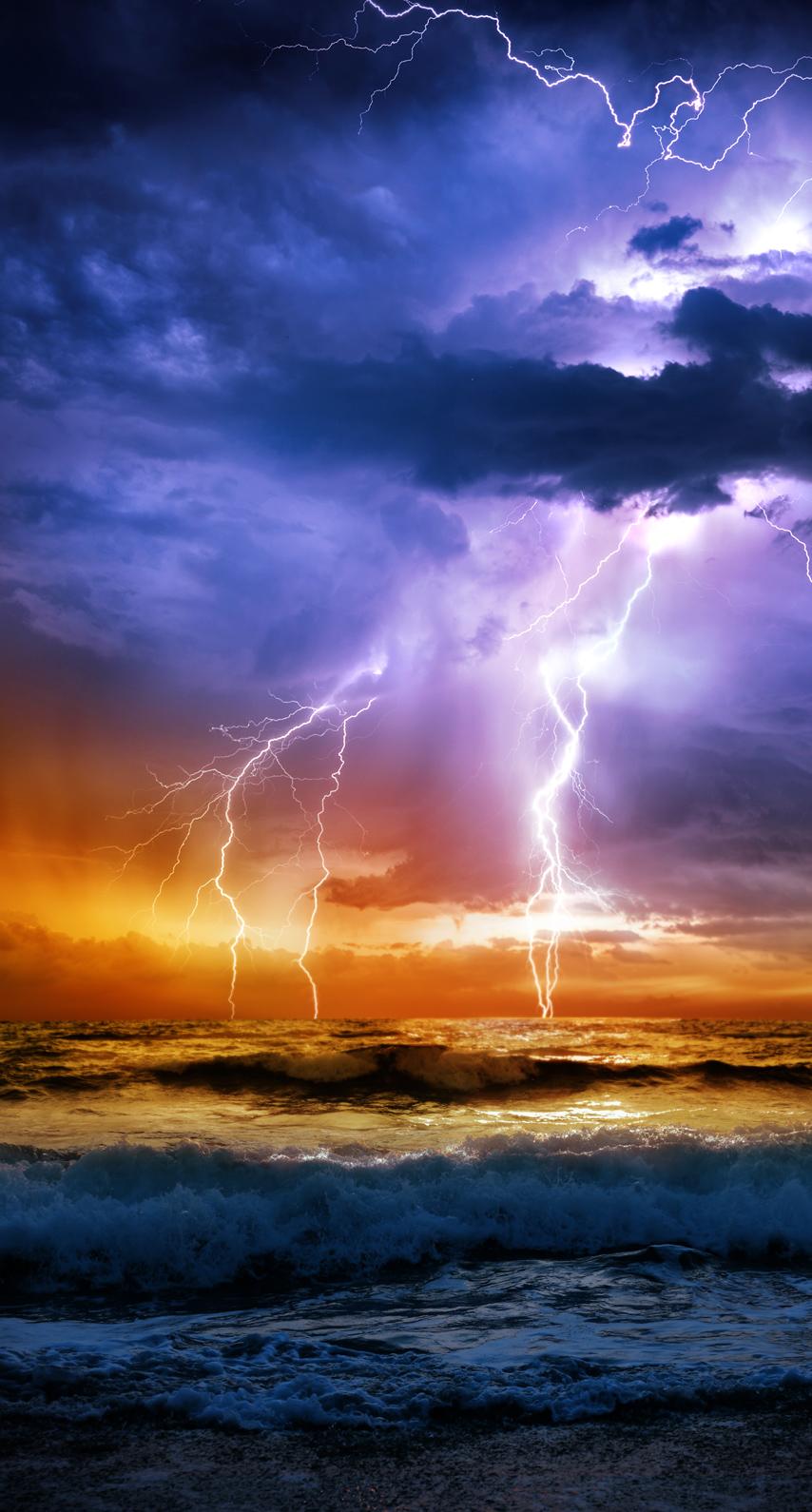 light, lightning