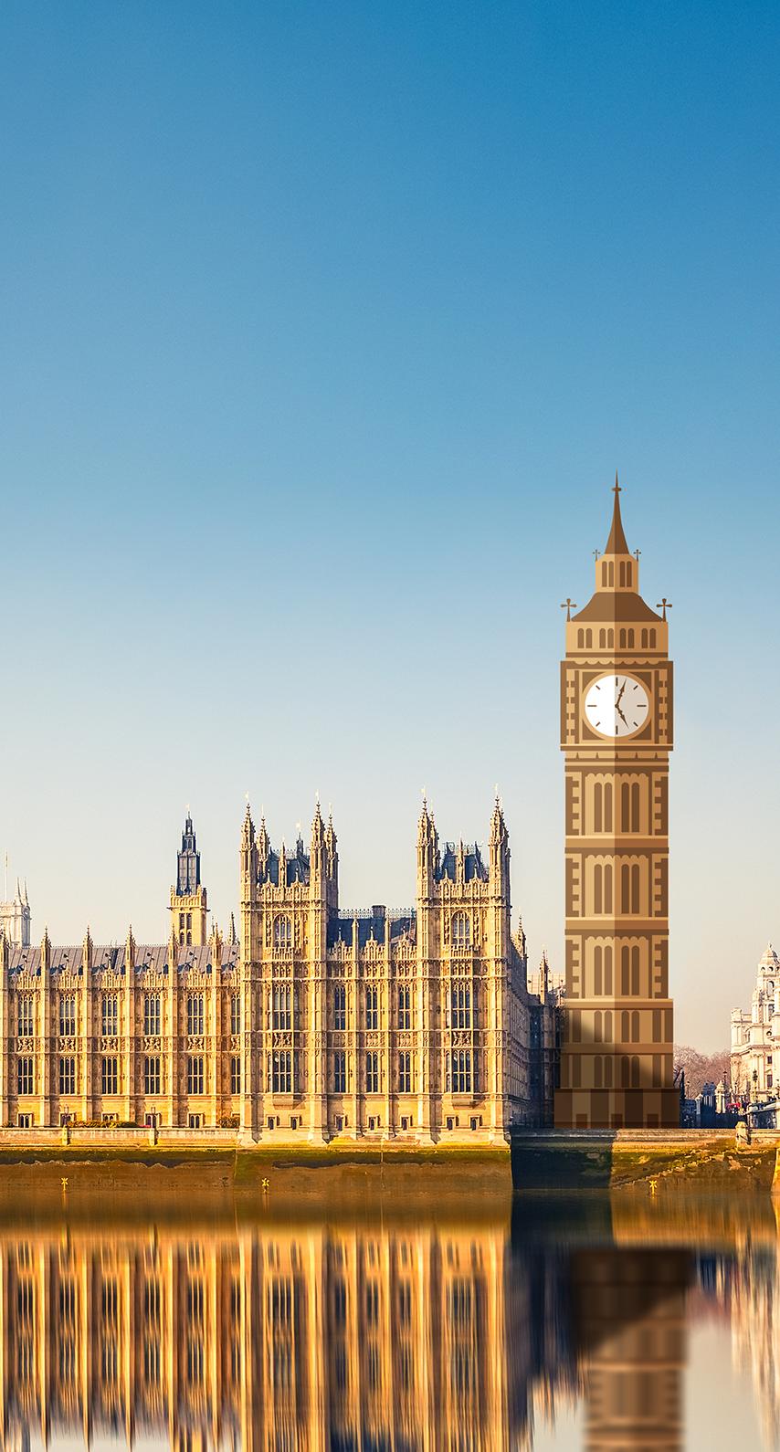 dusk, outdoors, architecture, reflection, building, tower, cityscape, landmark, parliament