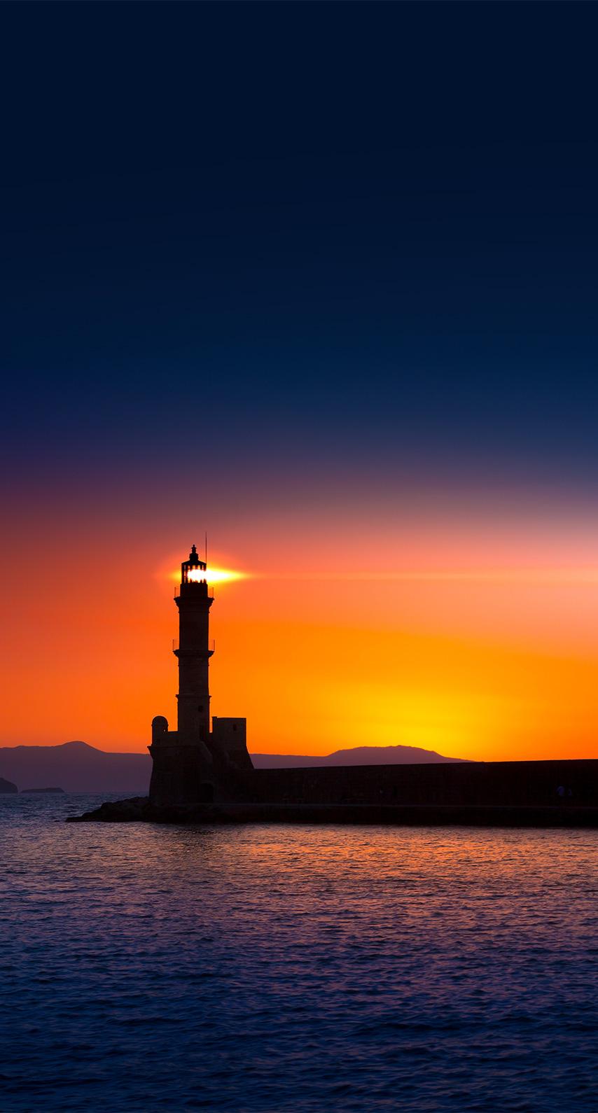 lighthouse, sun