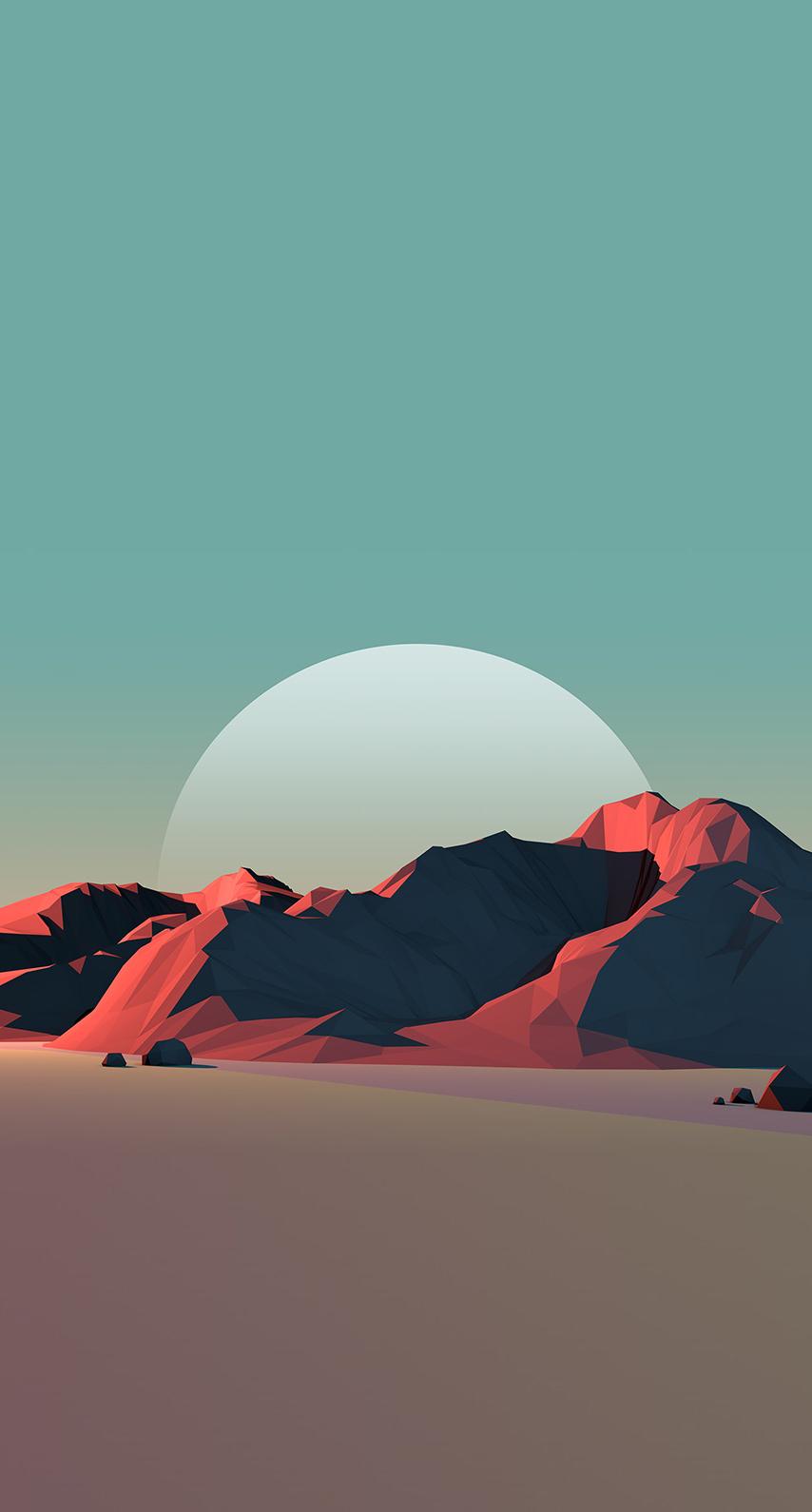 moon, desert, sunset, light, aircraft, flight, mountain