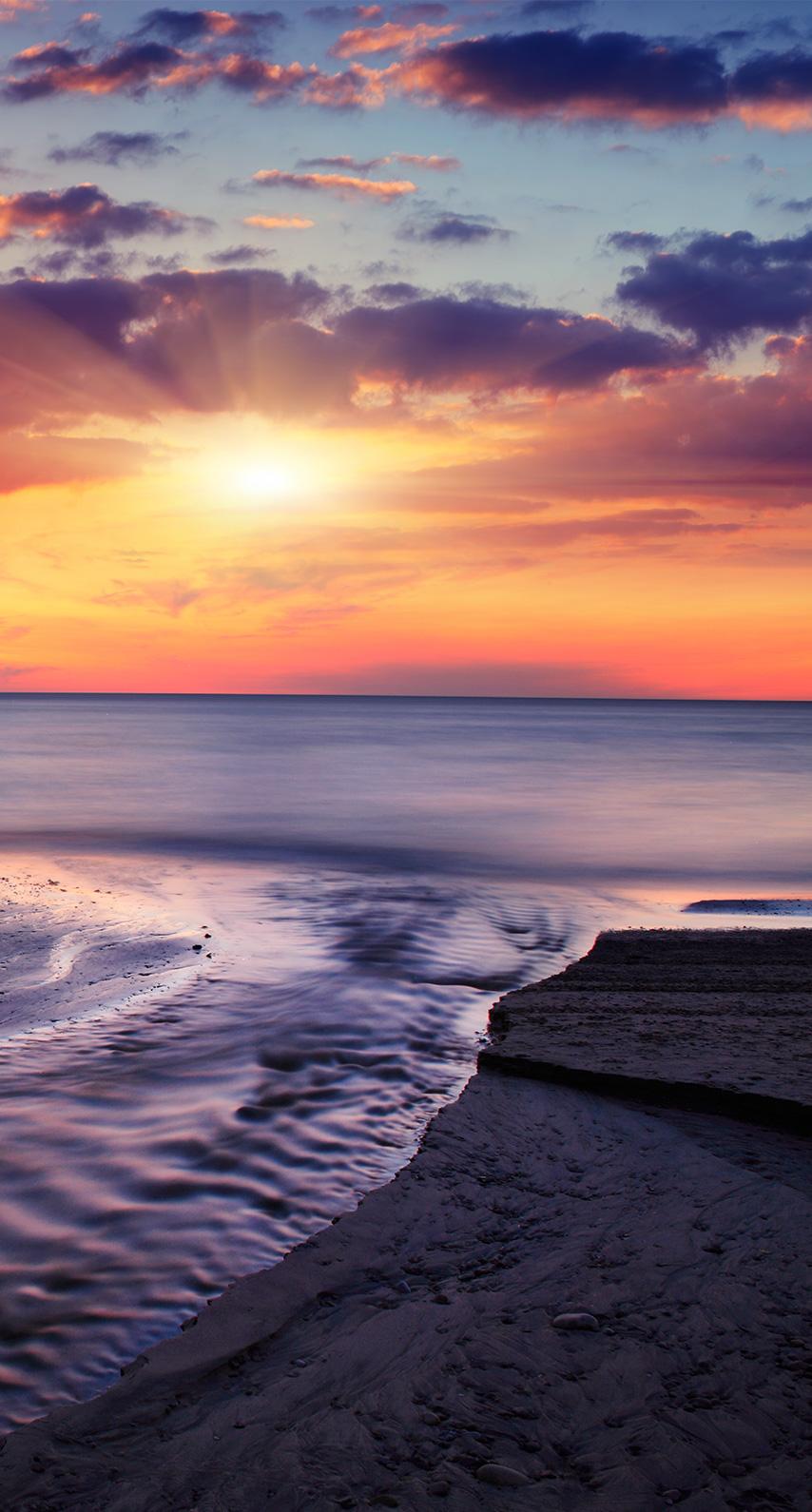 evening, sun, no person, dawn, fair weather, dusk, surf, seascape, seashore