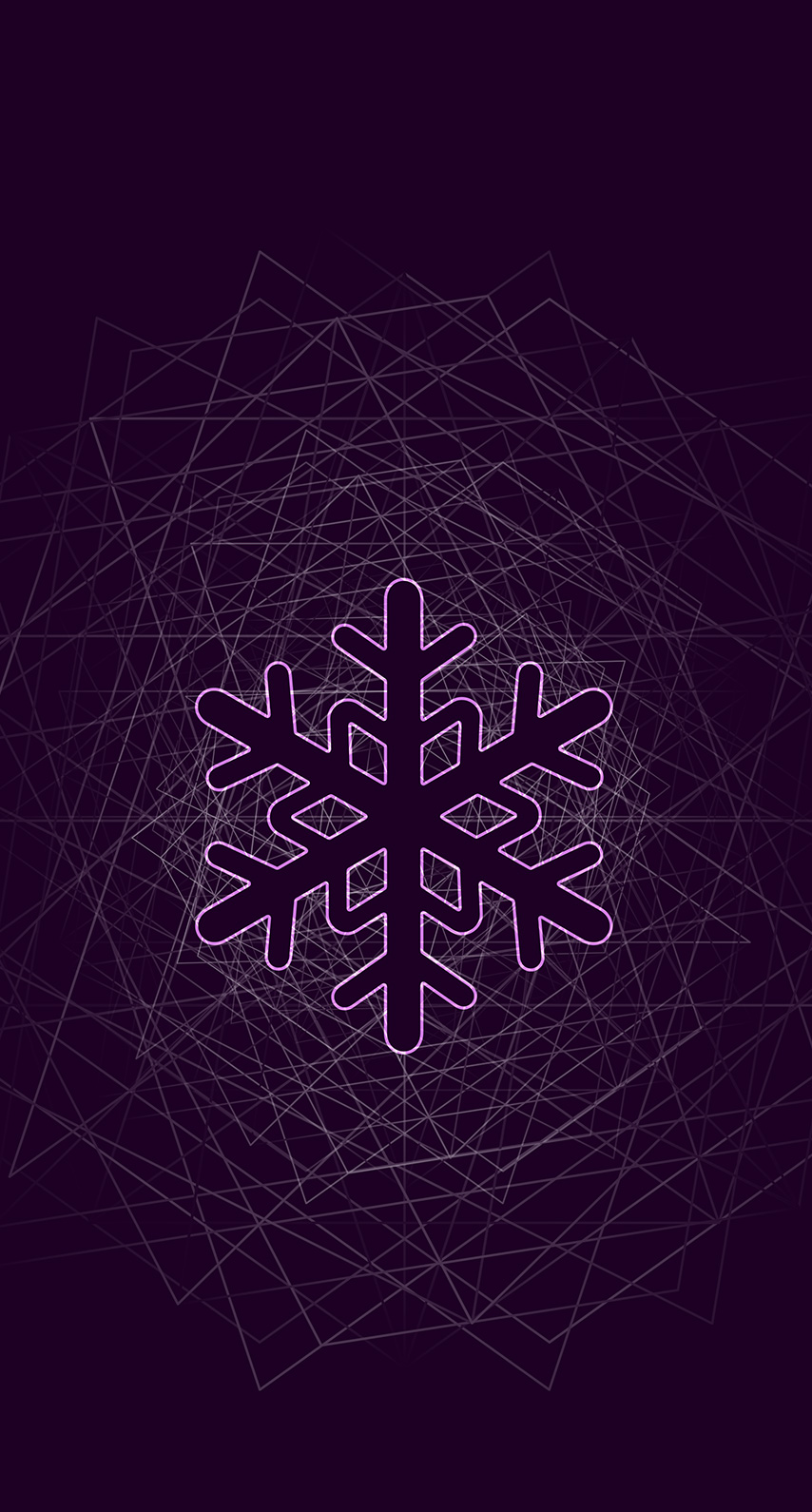 purple, snowflake
