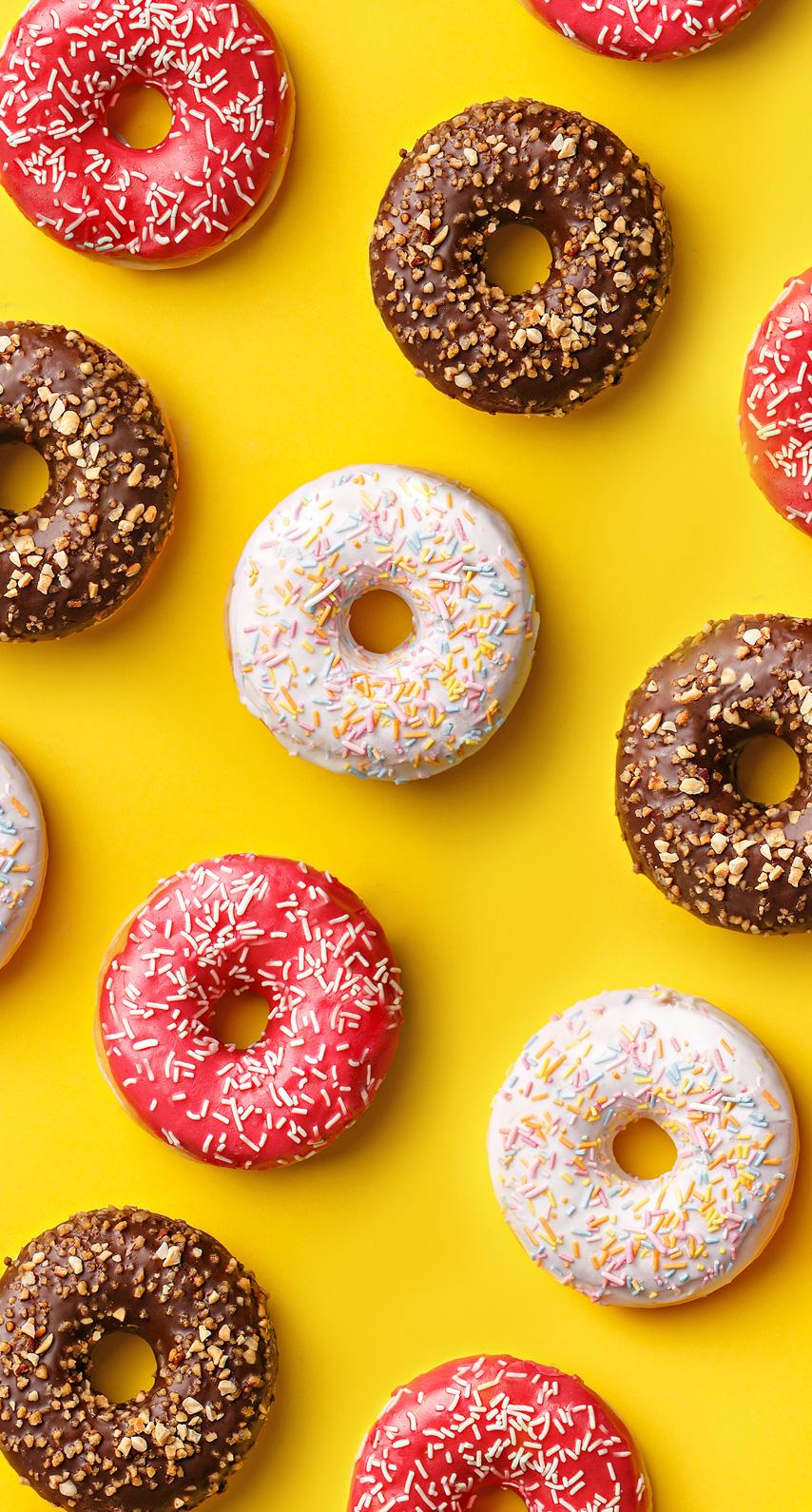 bright, donut
