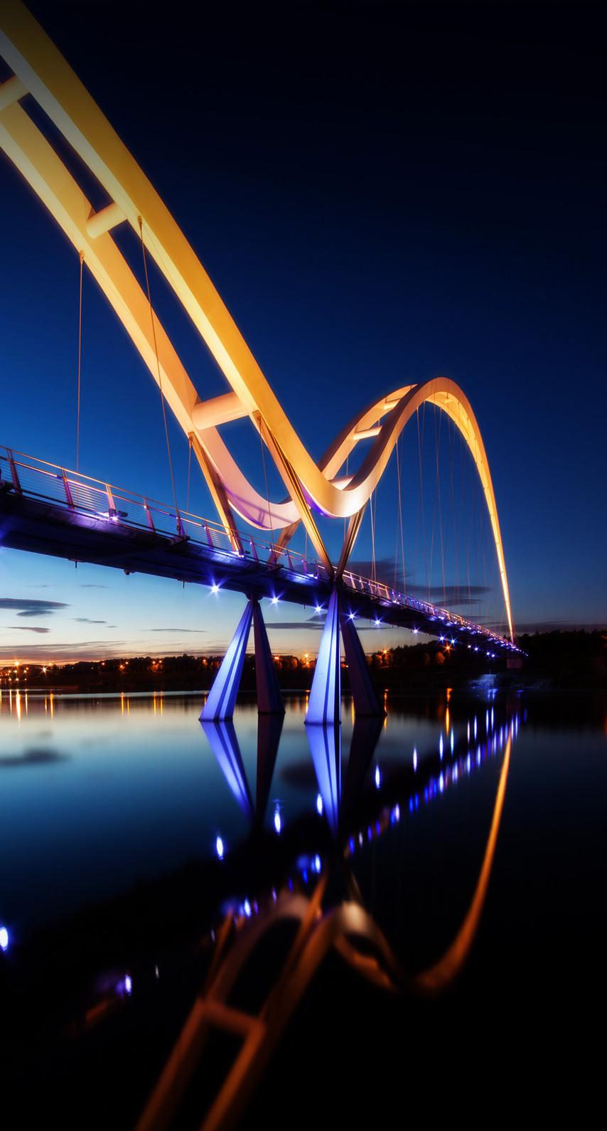 illuminated, cityscape