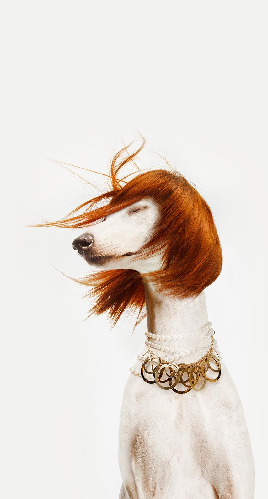 wig, redhead