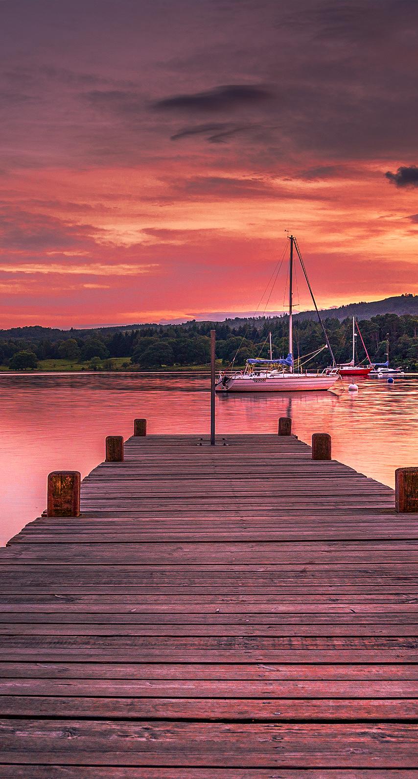 evening, jetty