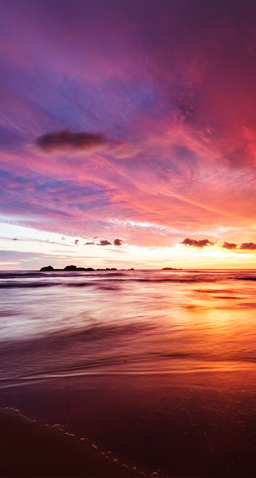 sunrise, seaside