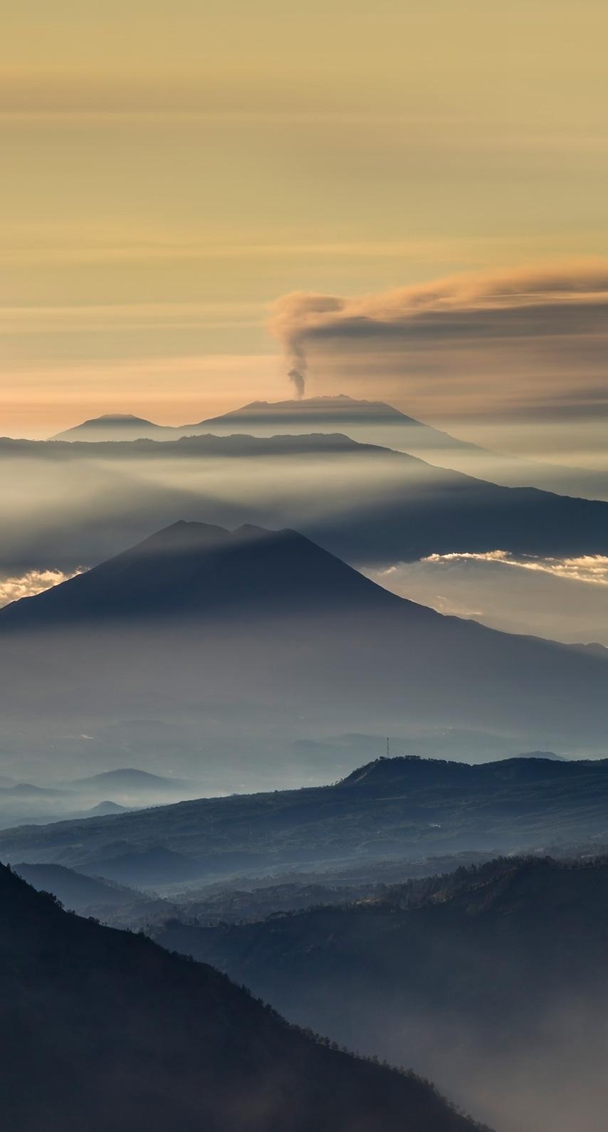 mountain, volcano