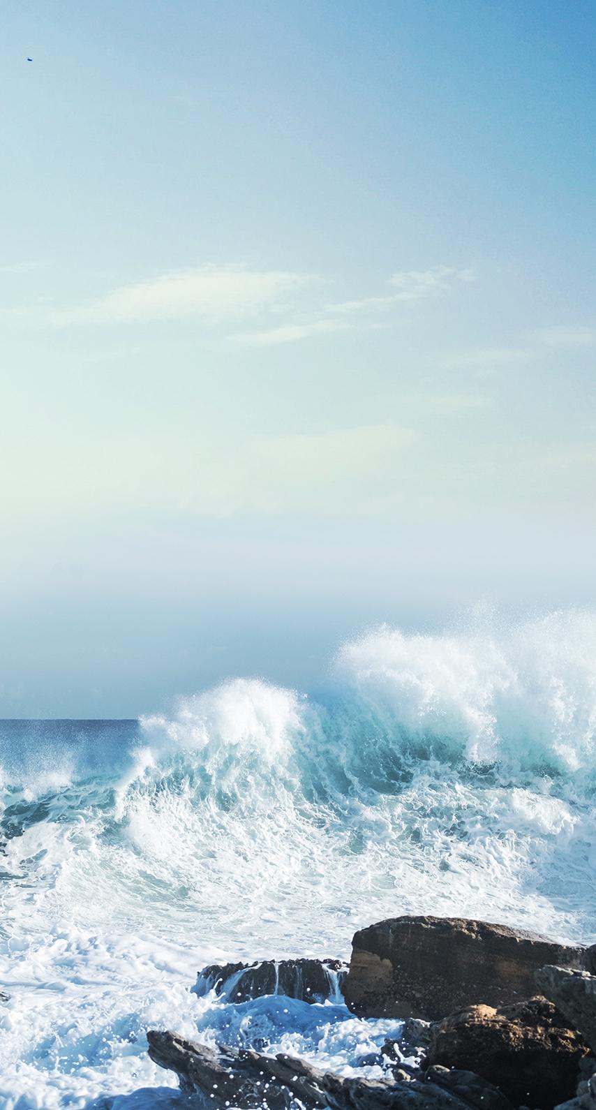 rocks, wave