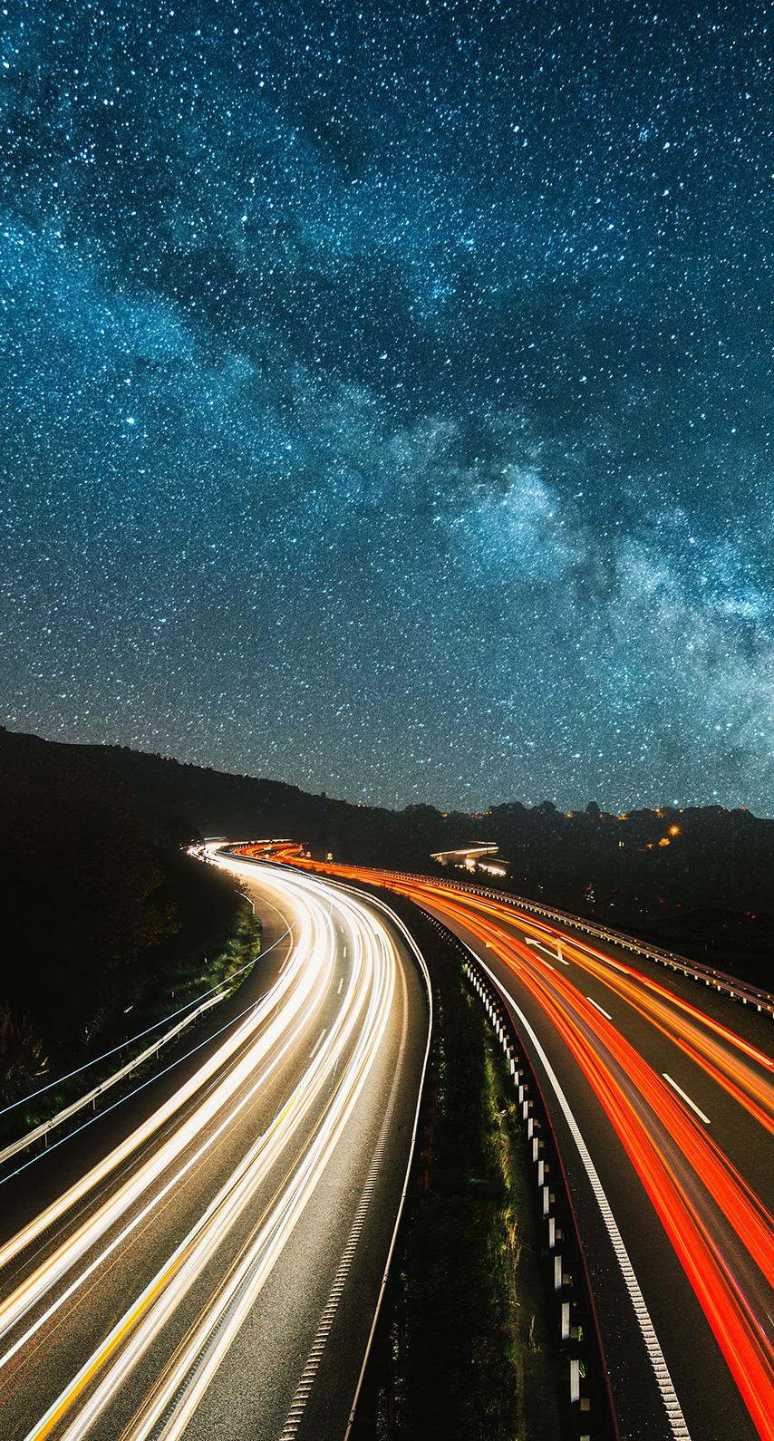highway, timelapse