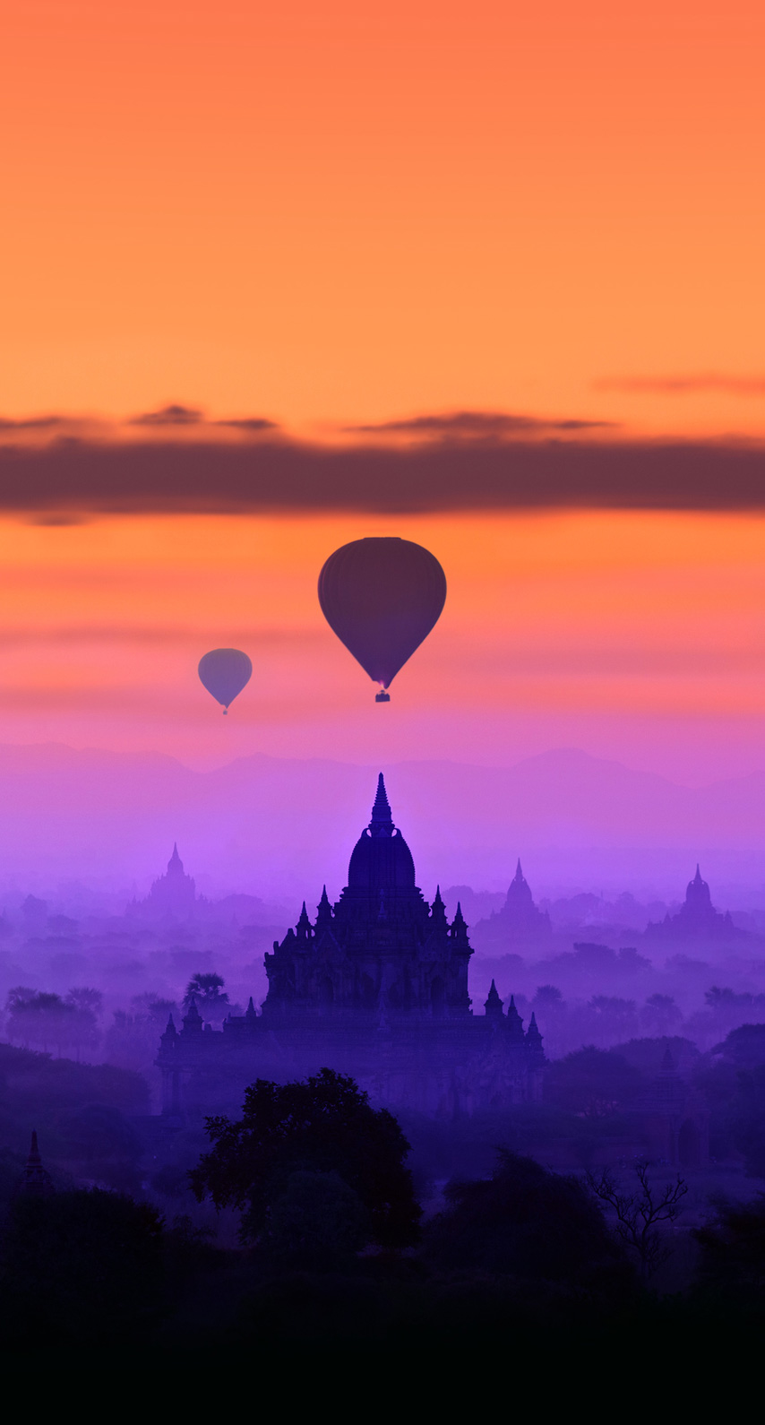 horizon, tourism, sight, temple, phenomenon, computer wallpaper, atmosphere of earth, daytime, afterglow, red sky at morning, hot air balloon, hot air ballooning
