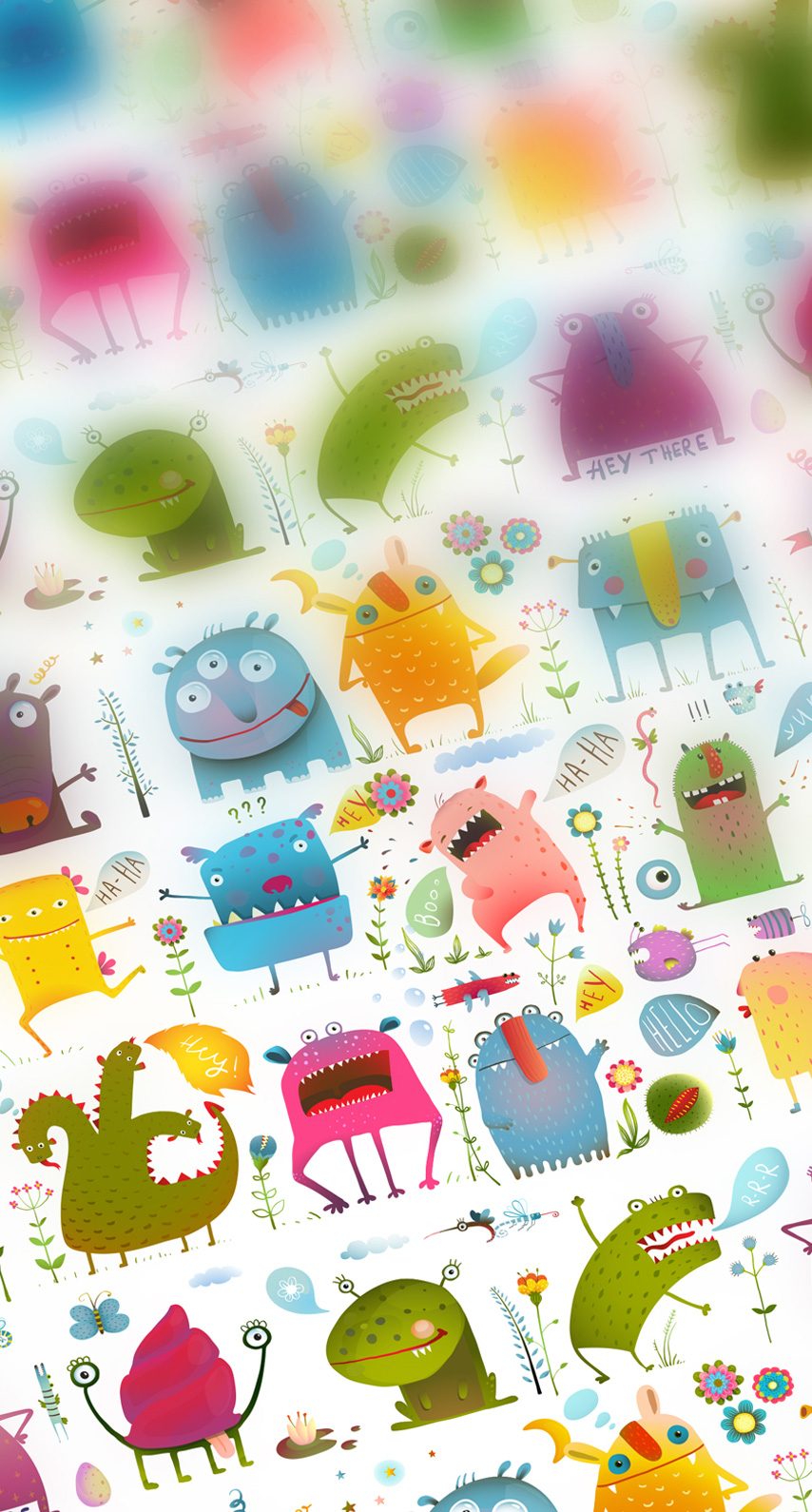colorful, monsters