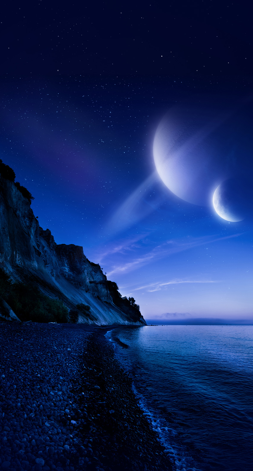 dusk, midnight, horizon, phenomenon, computer wallpaper, darkness, astronomical object, celestial event, moonlight, outer space, atmosphere of earth, calm