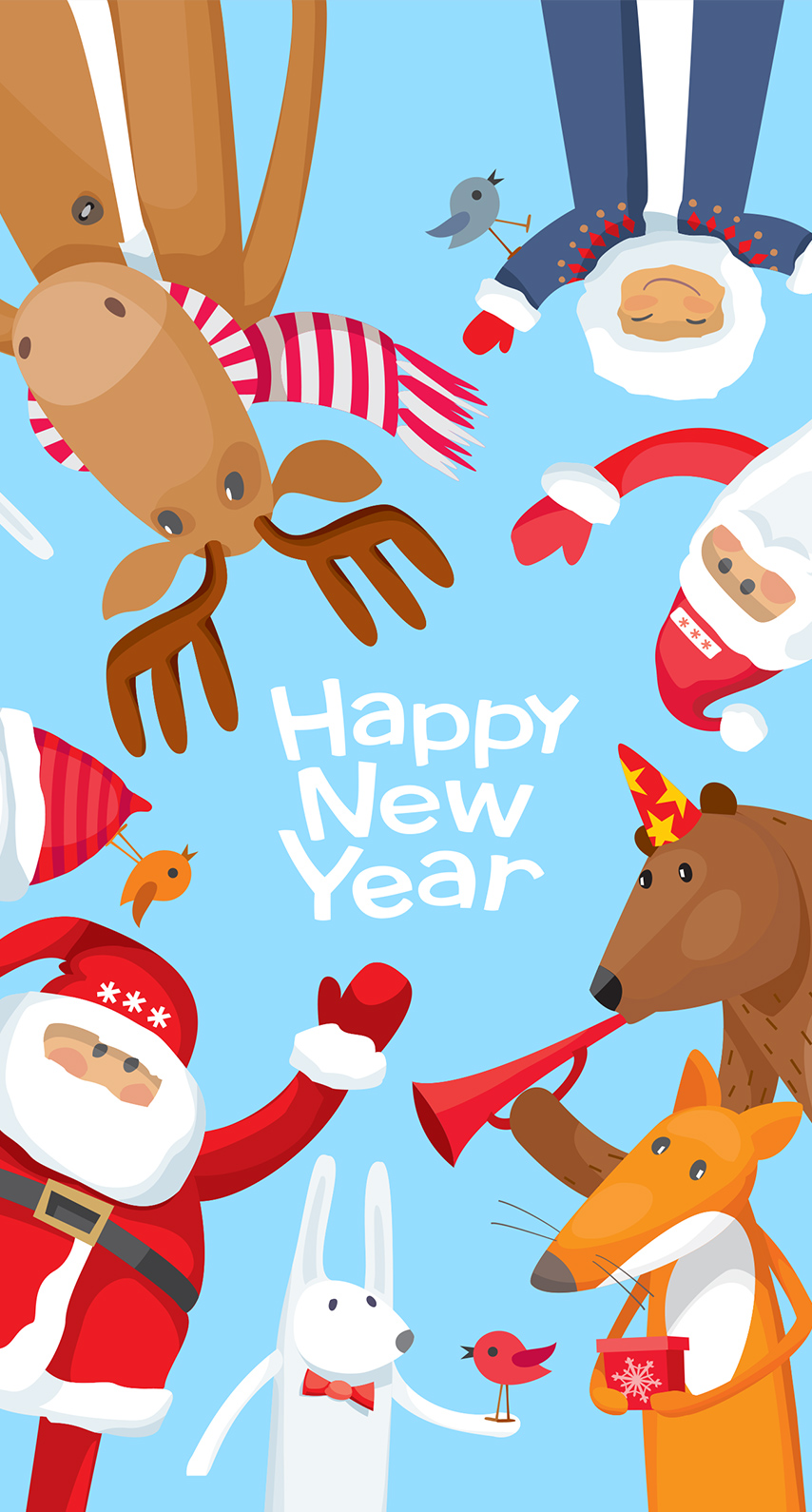 font, graphics, Christmas, clip art, fictional character, scarf, area, santa claus, vertebrate, rabits and hares