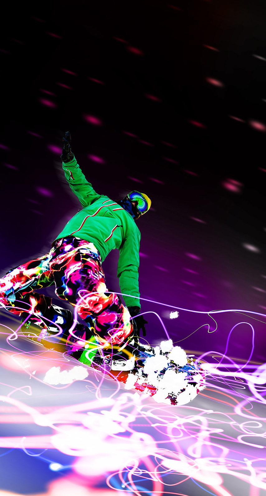 purple, snowboarding