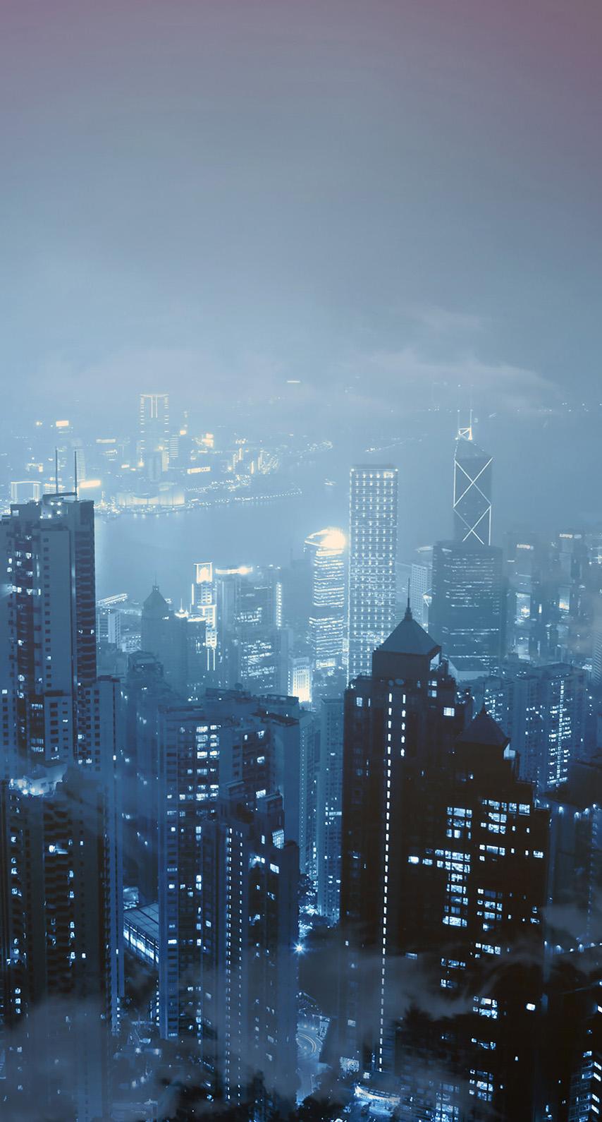 cityscape, mist