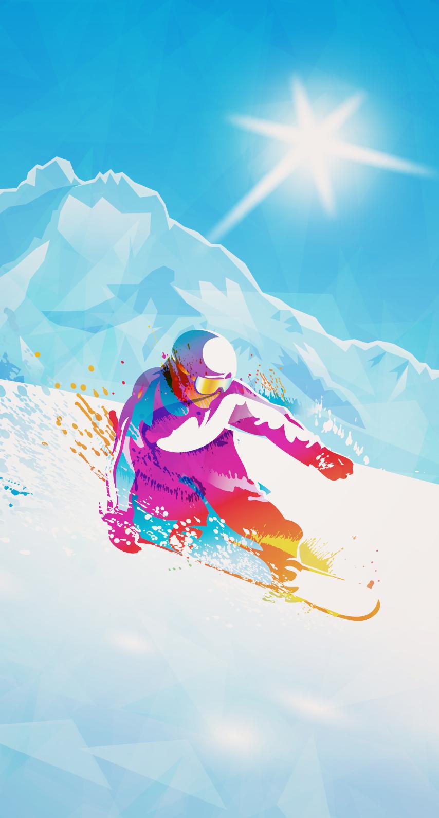 sky, snowboarding