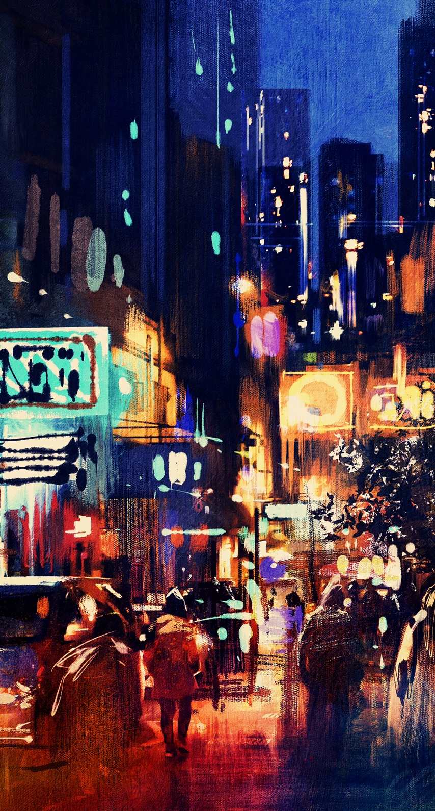 cityscape, crowd