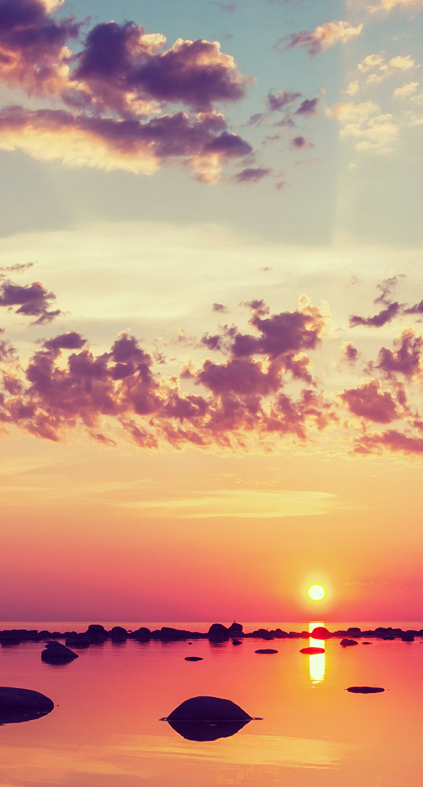 reflection, horizon