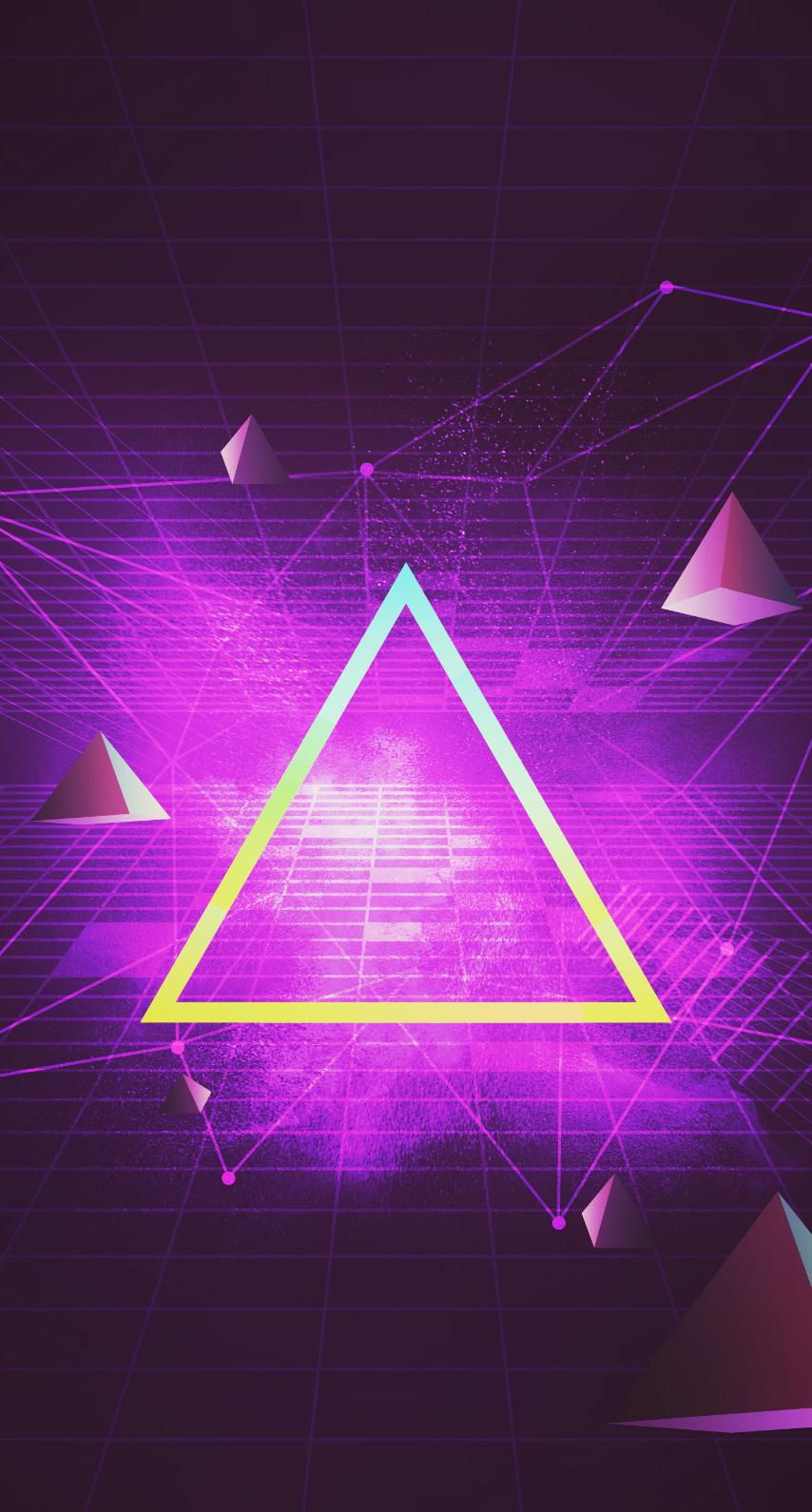 purple, geometric