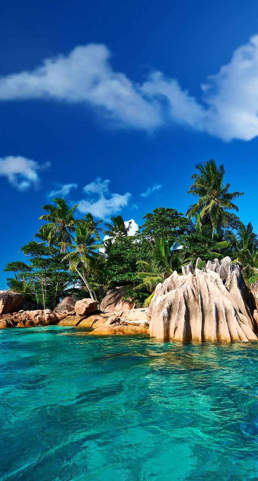 beach, island