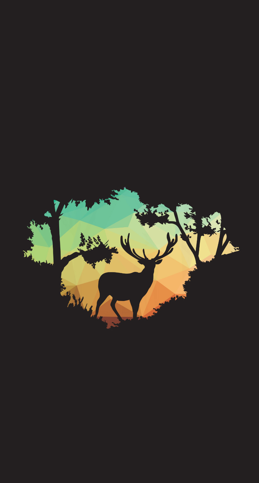 deer, abstract