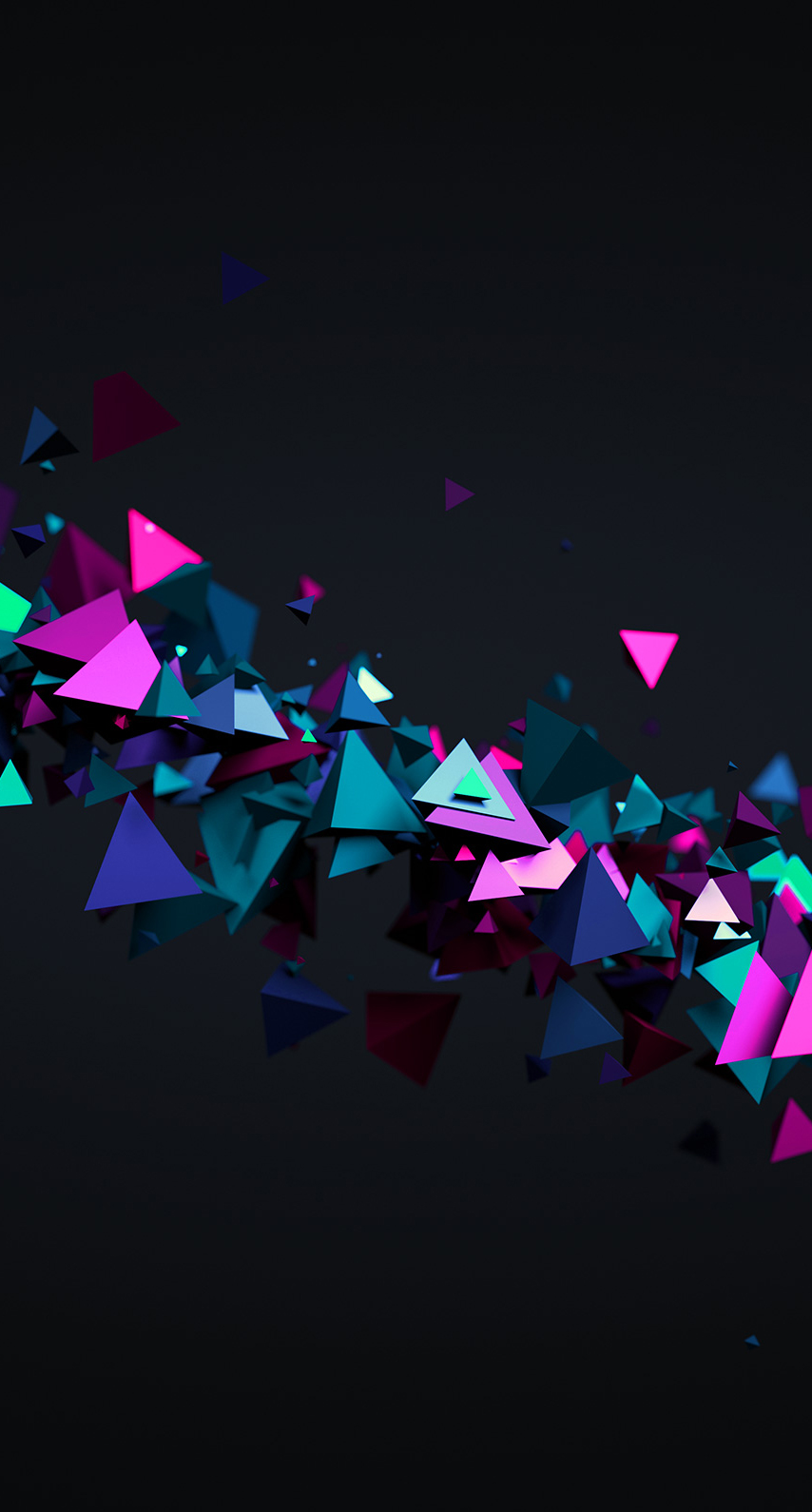 triangles, magenta