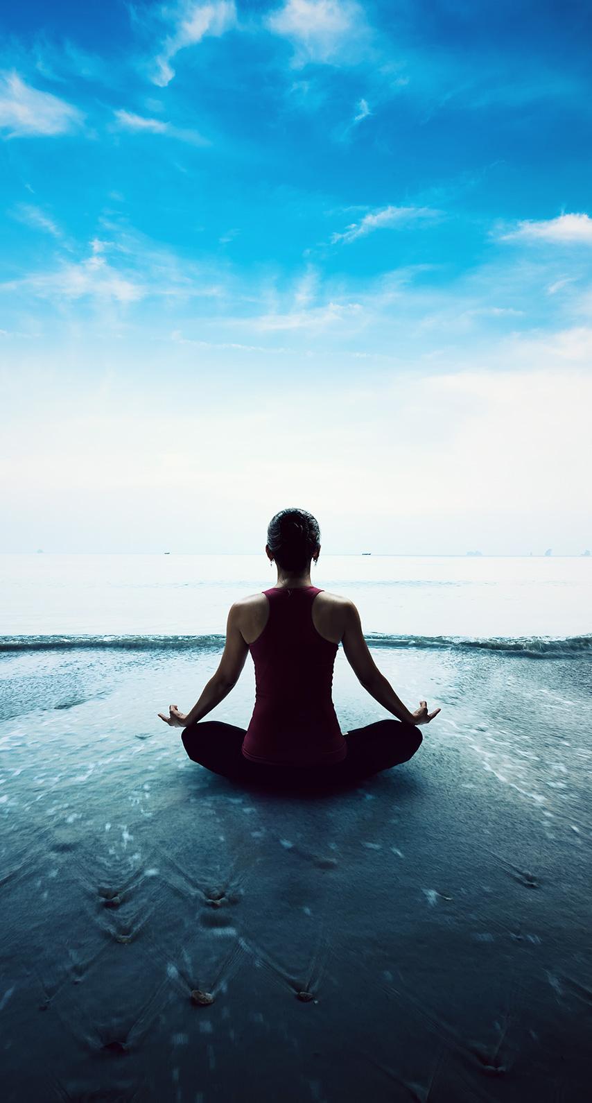meditation, surfboarding