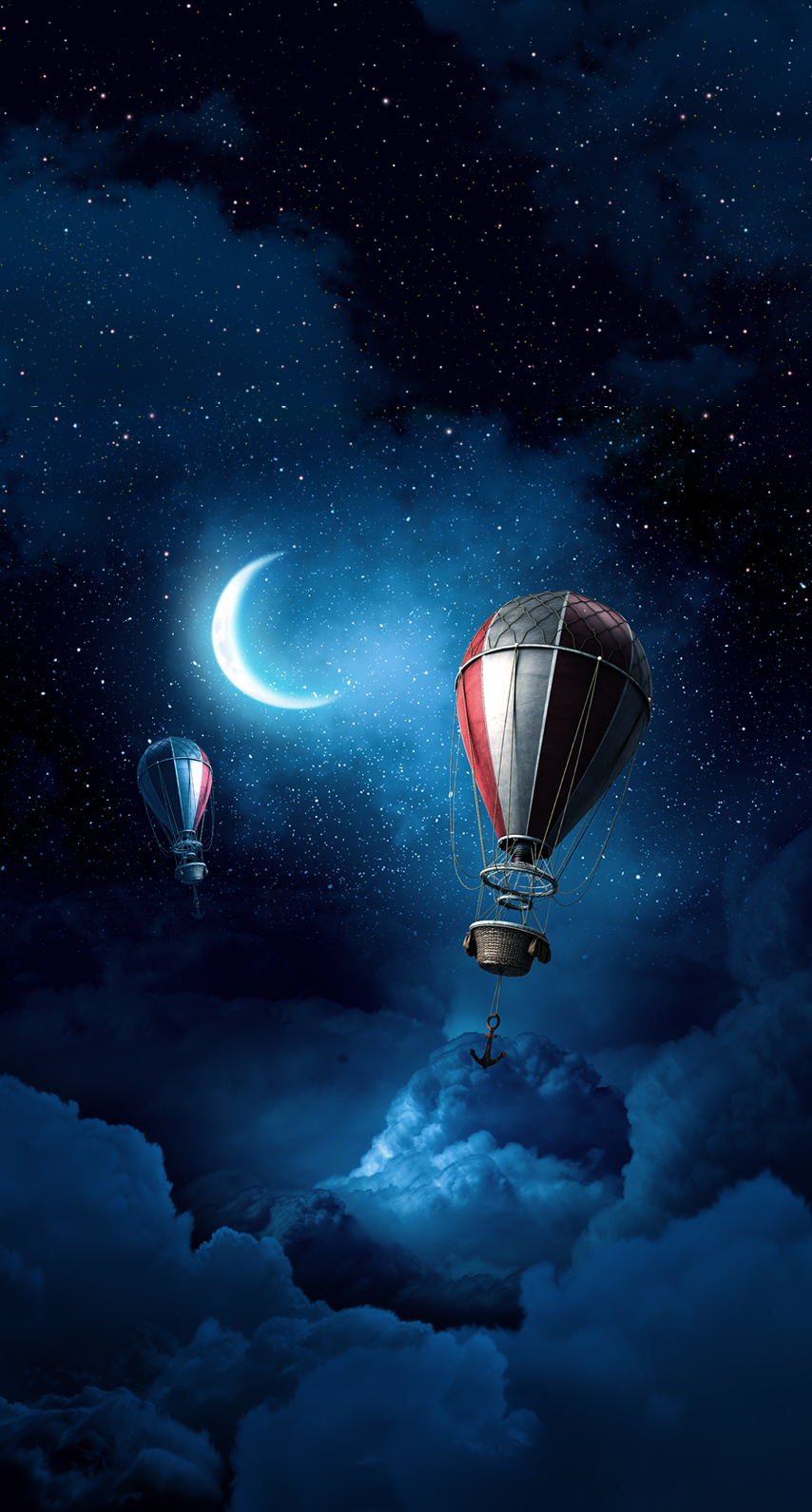 moon, balloon