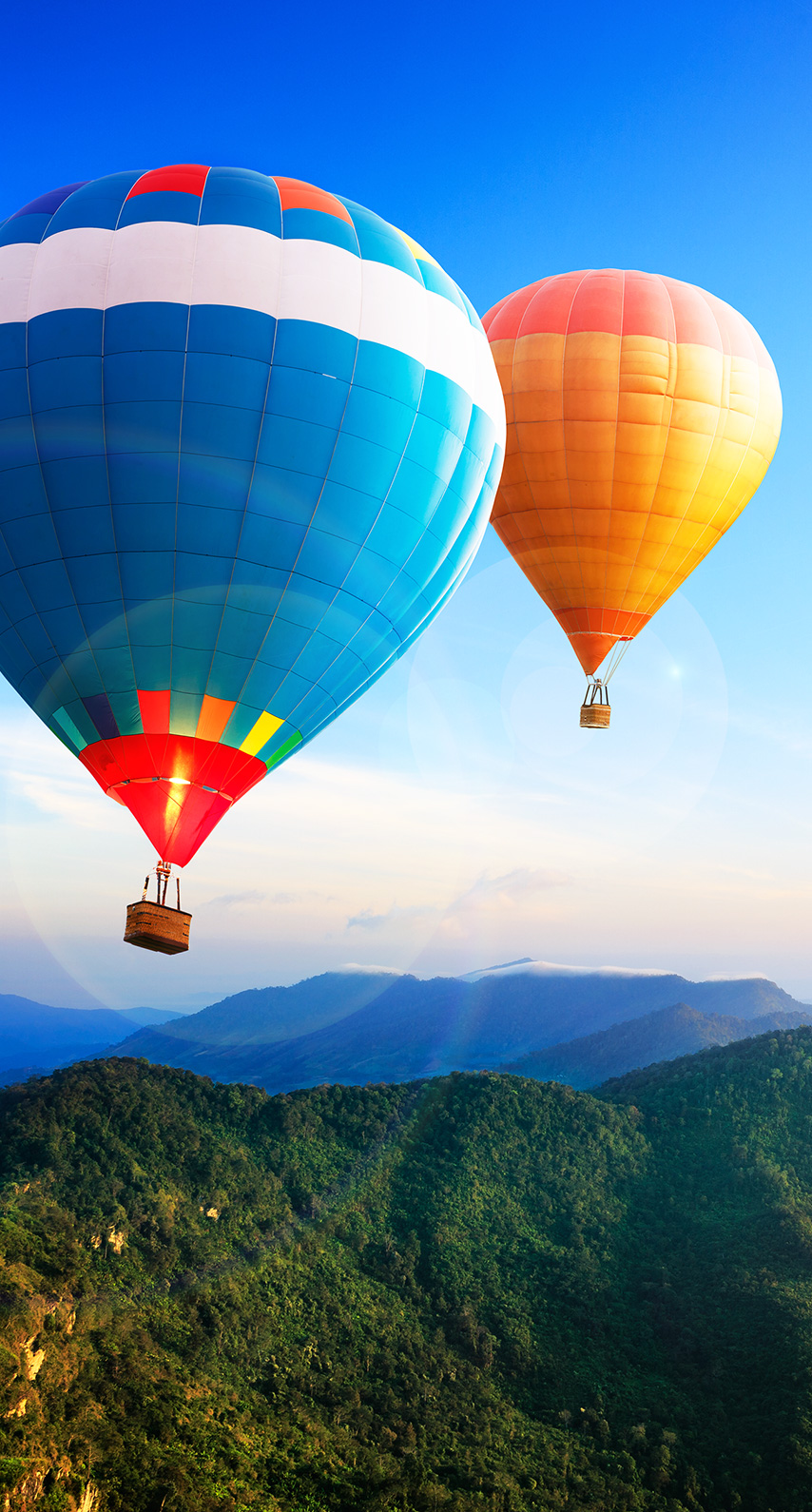 daytime, hot air balloon