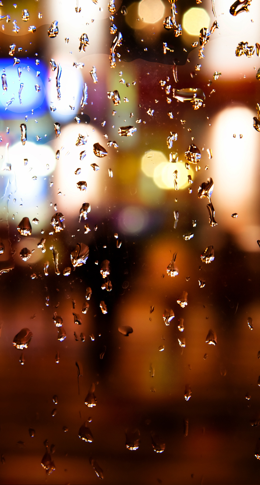 window, raining