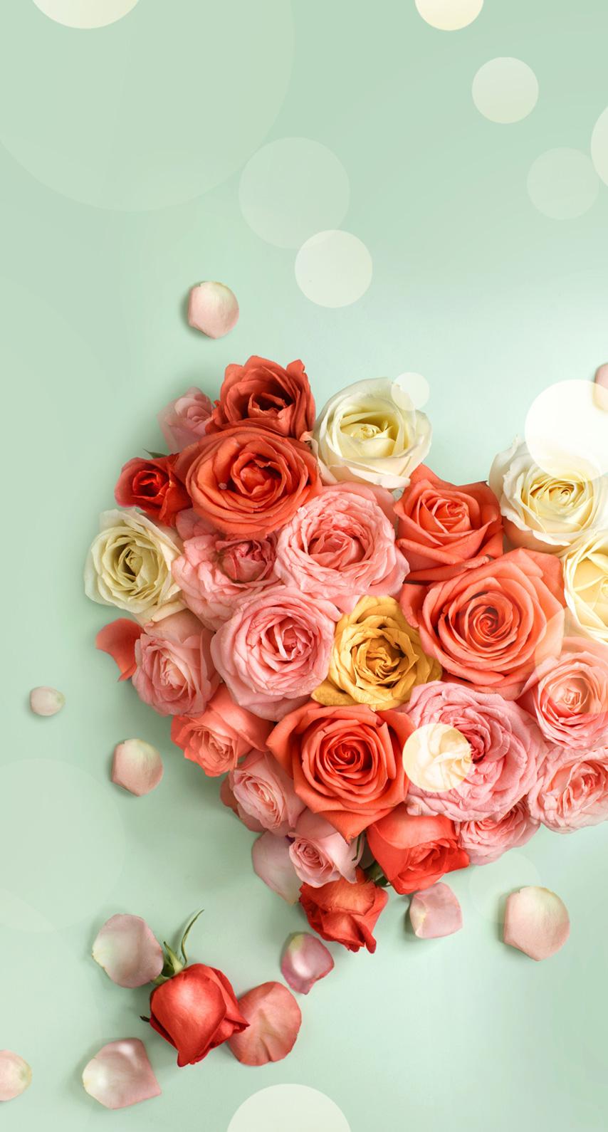 flowers, heart