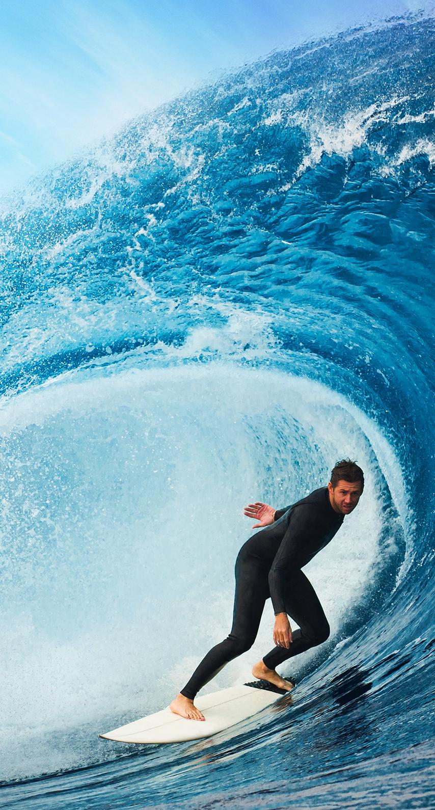 wave, surfer