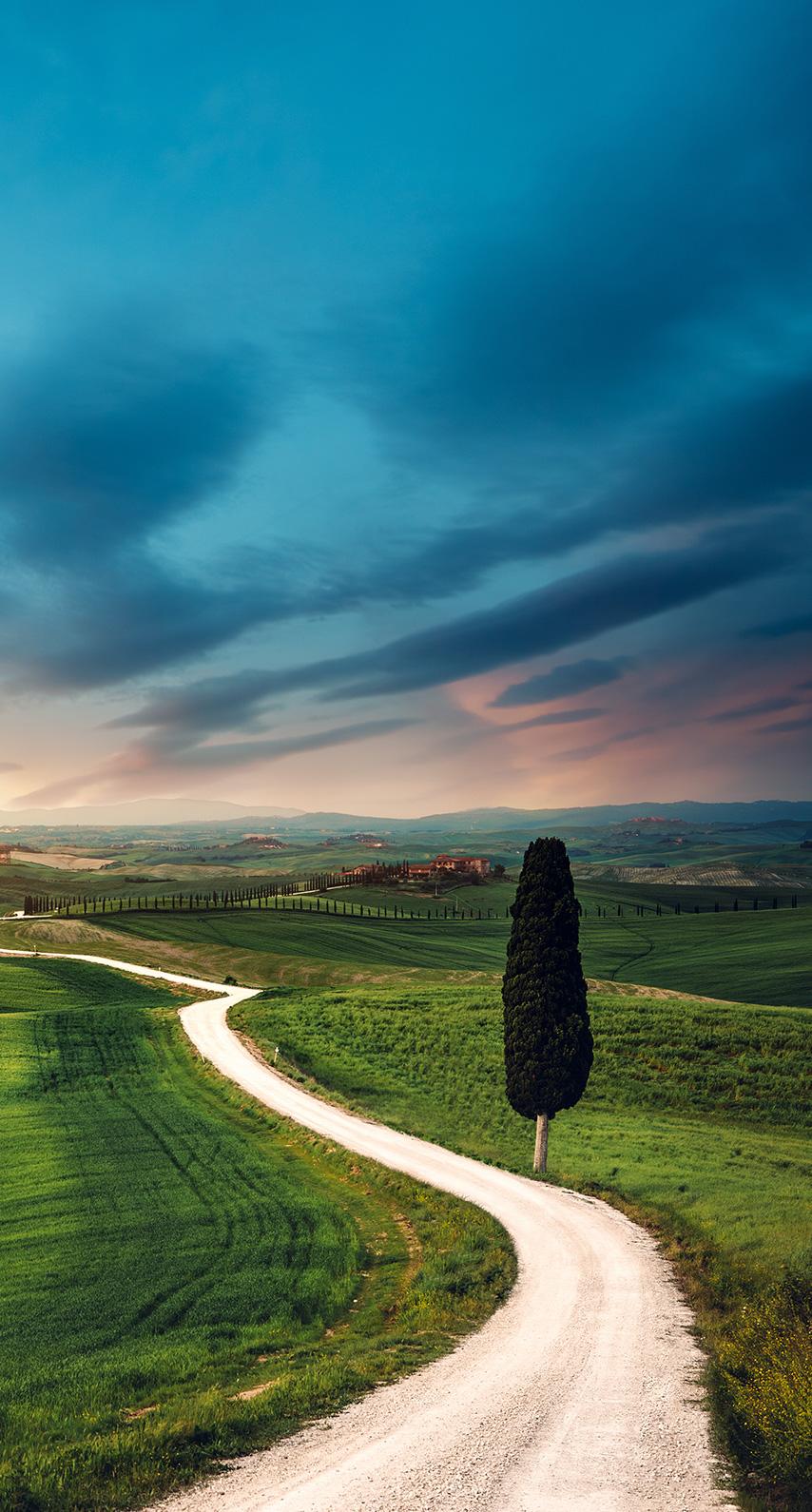 cropland, highway