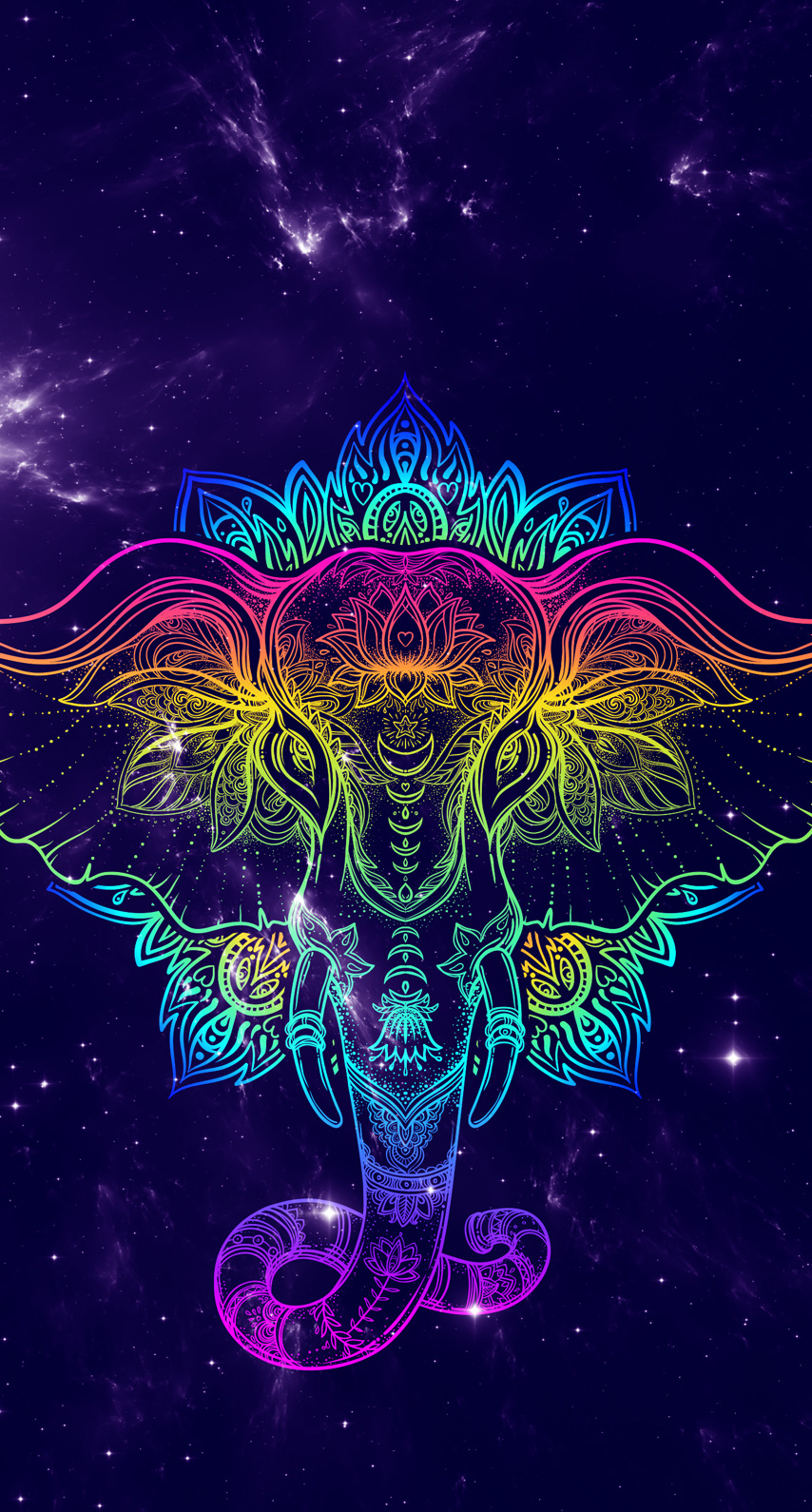 psychedelic art, font
