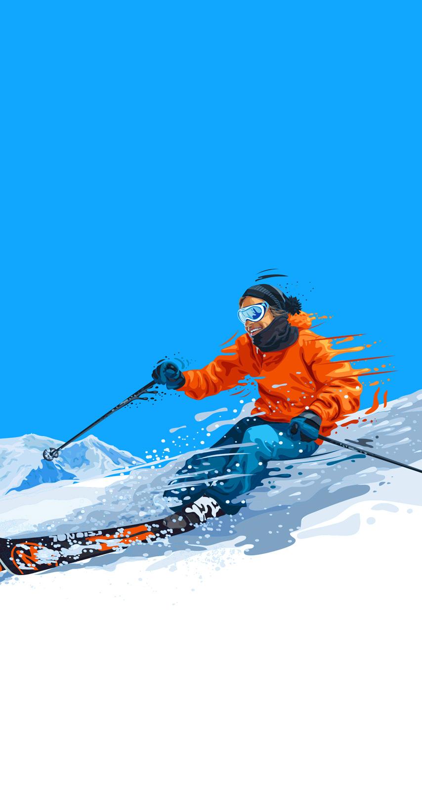 ski slope, goggles